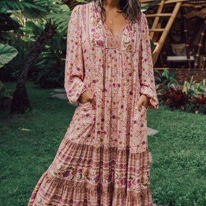 ARNHEM Soleil Sundress Long Sleeve Maxi Dress